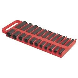 Lisle Large Magnetic 1 2 Socket Tray Red 40900