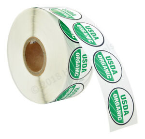 1 120 Rolls Usda Organic Labels 1 Crcle Dots 1000 Adhesive Stickers Per Roll