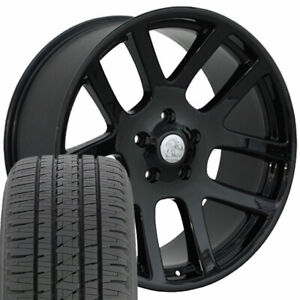 22x10 Wheels Tires Fit Dodge Ram Srt10 Laramie Hemi Dakota Blk Bda 2223 W1x