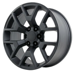 4 20 Inch Replica V1176 2014 Gmc Sierra 20x9 6x139 7 31 Satin Black Wheels Rims