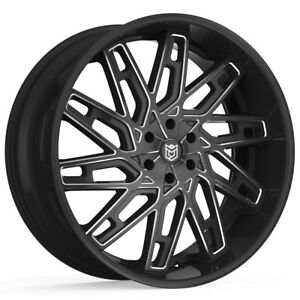 4 26 Inch Dropstars 656bm 26x10 6x139 7 6x5 5 30mm Black milled Wheels Rims