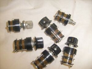 6 Lot Grayhill Rotary Switch Pots Read X3