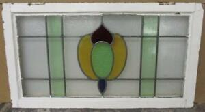 Large Old English Leaded Stained Glass Window Alluring Abstract 32 X 18 25