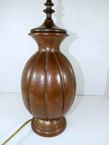 Antique Vintage Copper Table Lamp Arts Craft Western Mission Victorian 1920