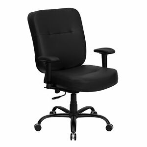 Big And Tall Black Leather Office Chair