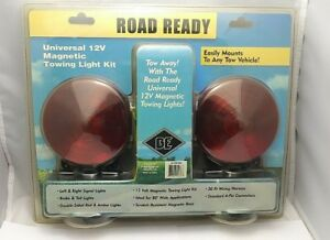 New Road Ready 12 Volt Magnetic Towing Light Kit Scratch Resistant Double Sided