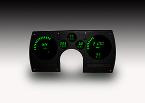1982 1990 Camaro Digital Dash Panel Direct Fit Gauges Green Leds Made In The Usa