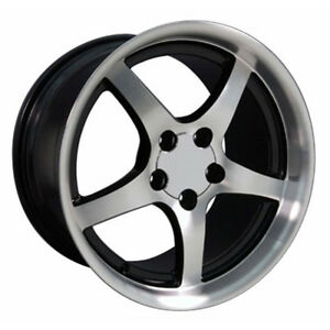 Black Wheel 18x10 5 W Mach D Face For 1993 2002 Chevy Camaro Owh0415