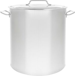 100 Qt Stock Pot Large Stainless Steel Cooking Kettle Stockpot Cover Pasta Pots