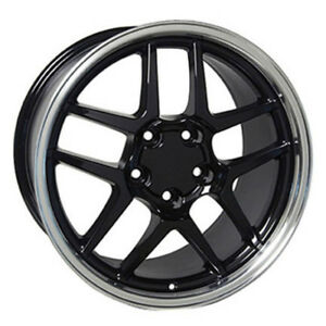 Black Wheel 17x9 5 W Mach D Lip For 1993 2002 Chevy Camaro Owh0088
