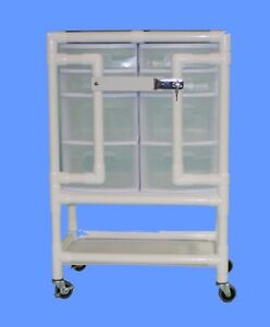Care Products Inc Locking Nursing Supply Cart