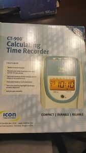 Icon Time Systems Ct 900 Calculating Time Recorder Starter Kit