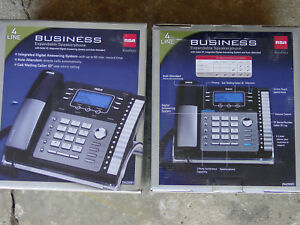 2 new Rca 25425re1 4 line Business Phone Speakerphone Call Waiting Caller