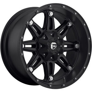 18x9 Black Fuel Hostage D531 6x120 1 Rims Nitto Trail Grappler 285 65 18 Tires