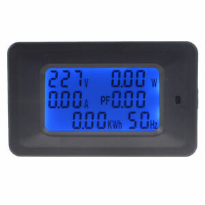 6 In 1 Lcd Digital Ac Voltmeter 20a 100a 110 250v Monitor Power Meter Hz Power