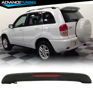 Fits 01 05 Toyota Rav4 Xa20 Oe Matte Black Roof Spoiler Led 3rd Brake Light