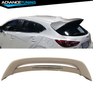 14 17 Mazda 3 5dr Hatchback Ms Style Unpainted Trunk Spoiler Wing Abs