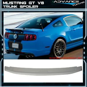 Fits 10 14 Mustang Gt V8 Oe Factory Trunk Spoiler Painted Brilliant Sliver Ui