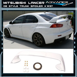 08 17 Lancer Evo X Mr Trunk Spoiler Oem Painted Color W37 Wicked White Abs