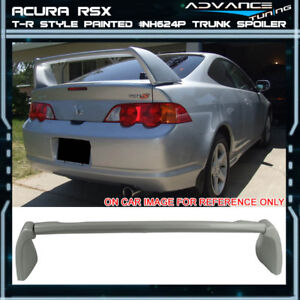 02 06 Rsx Dc5 Type r Trunk Spoiler Oe Painted Premium White Pearl nh624p
