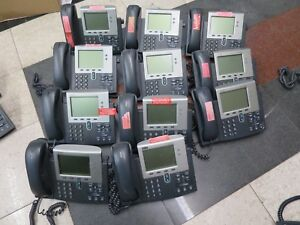 Lot Of 11 Cisco 7941g Digital Ip Business Phones 7941