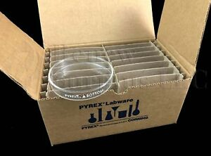 12x Pyrex Corning Glass Petri Dish Bottom 100mm X 15mm