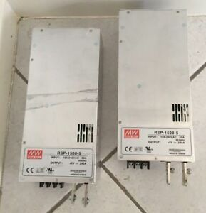 2x Mean Well Rsp 1500 5 1200w Ac dc Switching Power Supply