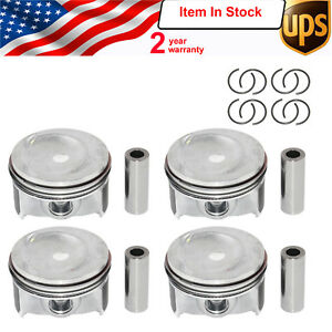 Set Of 4 Pistons Rings 76 5mm Vw Jetta Golf Plus Tiguan Scirocco 1 4tsi Cavd
