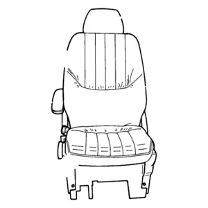 Chrysler Seat Back Front Ue331l5aa