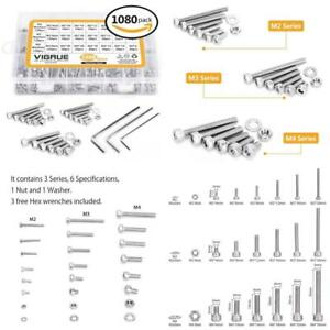 Bolts Nuts And Washer Assortment Kit Metric Screw Storage Containers 1080 Pcs