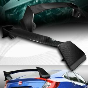 Real Carbon Fiber Type r Style Rear Trunk Spoiler Wing Fit 16 20 Honda Civic 4dr