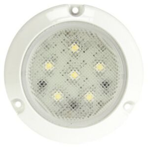 Truck lite 44439c Super 44 Led 6 Diode Round Clear Dome Light White Flang
