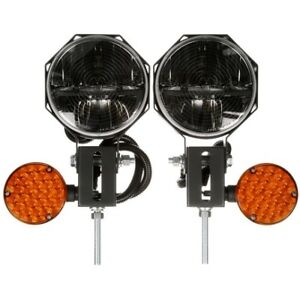 Truck lite 80990 Heated Lens Universal Led 7 In Round Snow Plow Light 23