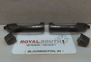 Toyota Tundra Crew Max Magnetic Gray Rear 2 Door Handles And Caps Genuine Oem