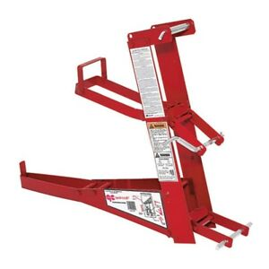 Red Steel Pump Jack Adjustable To 30ft Qualcraft 2200 Scaffolding Foot Pump Lift