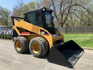 2003 Caterpillar 242 Skid Steer Loader Rubber Tire Diesel Cab Cat Wheel Tractor