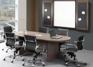 6 Foot Conference Table Has Power Center And Data Modules White Legs Many Colors
