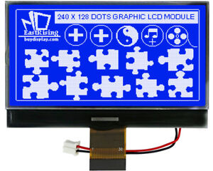 Serial 3v 3 3 Blue 240x128 Graphic Lcd Module Cog Display W uc1608 tutorial