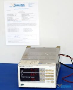 Yokogawa Wt130 3 Phase Power Meter Analyzer Nist Calibrated Extended Warranty