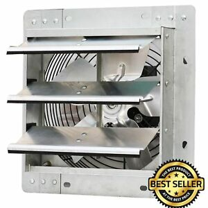 Shutter Mounted Fan Exhaust Automatic Explosion Proof Garage Cool Air Blades New