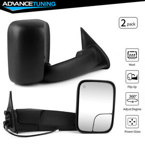 Fits 05 15 Toyota Tacoma Side Rear View Towing Mirrors Power Heated Lh