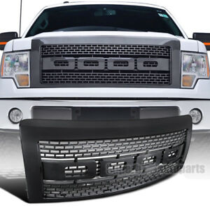 For 2009 2014 Ford F150 Abs Carbon Fiber Luxury Raptor Style Front Hood Grille