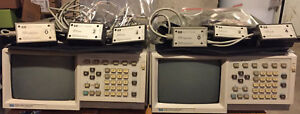 Hewlett Packard Model 1630d Logic Analyzers With Operating Service Manuals