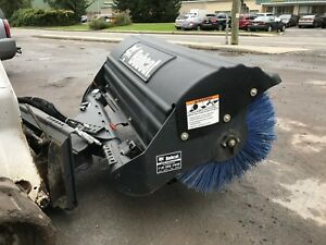 68 Hydraulic Angle Snow Broom Attachment For Bobcat Skid Steer Loader Sweeper