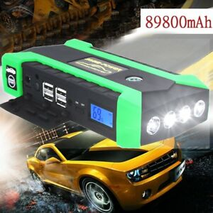 89800mah Usb Car Jump Starter Pack Booster Portable Charger Battery Power Bank