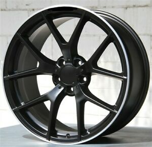 Set 4 19x8 19x9 5x112 Black Wheels Tires Pkg Benz C E Class 250 300 350 550