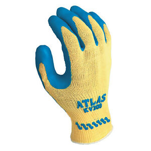 Atlas Rubber Palm coated Gloves X large Blue yellow