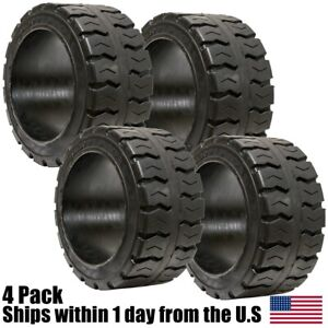 4pk 21x8x15 21x8 15 Solid Puncture Proof Press on Traction Forklift Tire 21815