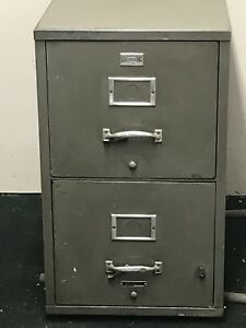 Underwriters Laboratories Inc Insulated 2 Drawer Filing Cabinet Vintage