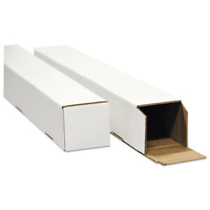 General Supply Square Mailing Tubes 18 inch Long X 3 inch Wide X 3 inch High